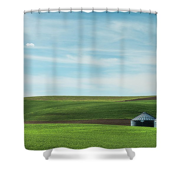 Less Is More. Shower Curtain