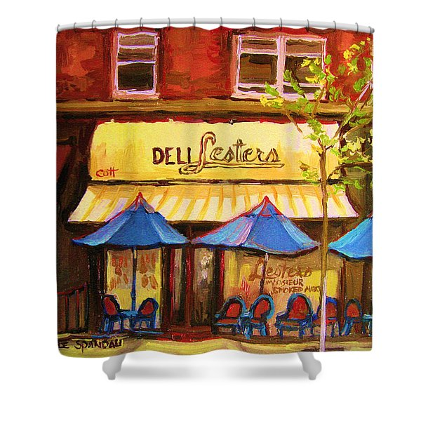 Lesters Cafe Shower Curtain
