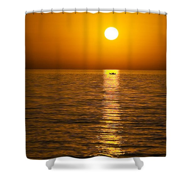 Lesvos Sunset Shower Curtain