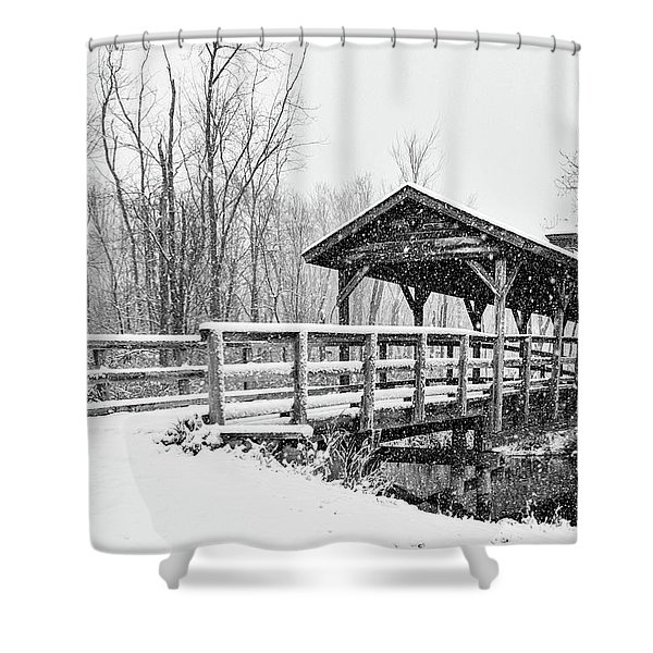 Shower Curtain featuring the photograph Let It Snow by Heather Kenward