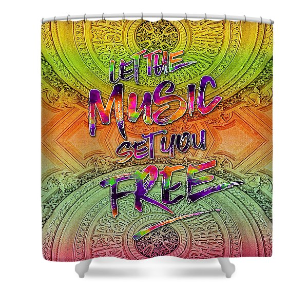 Let The Music Set You Free Rainbow Opera Garnier Paris Shower Curtain