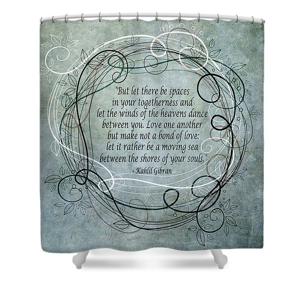 Let There Be Spaces Shower Curtain