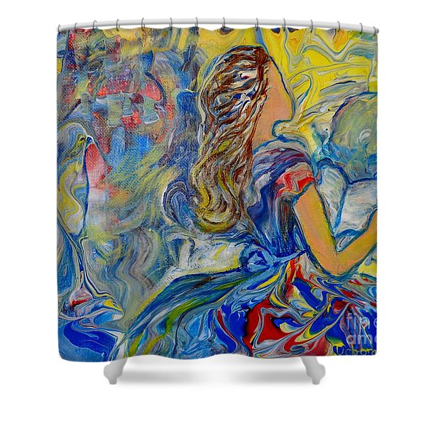 Shower Curtain featuring the painting Let Your Kingdom Come by Deborah Nell
