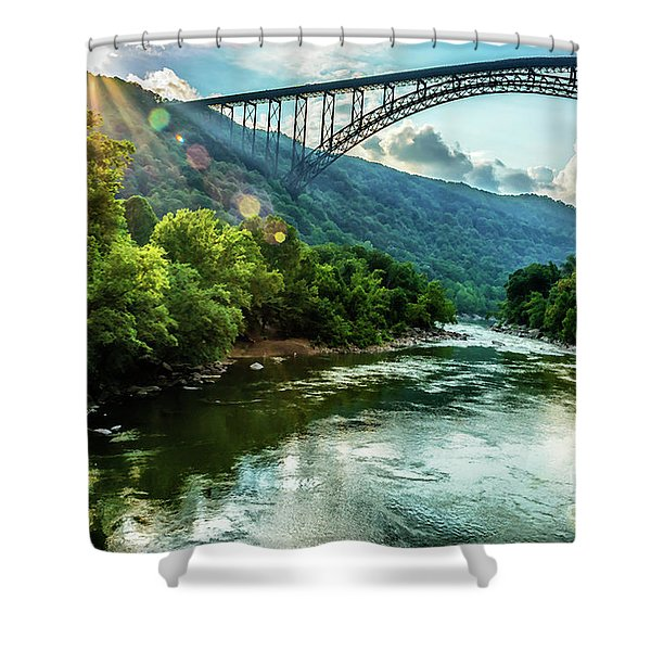 Let Your Light Shine Shower Curtain