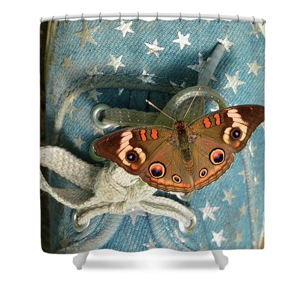 Let Your Spirit Fly Free- Butterfly Nature Art Shower Curtain