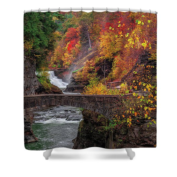 Letchworth Lower Falls Shower Curtain