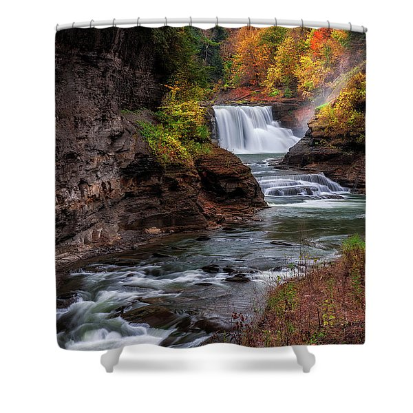 Letchworth State Park Lower Falls Shower Curtain
