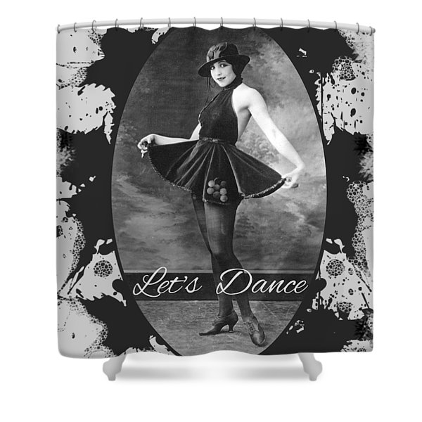 Shower Curtain featuring the digital art Lets Dance by Robert G Kernodle