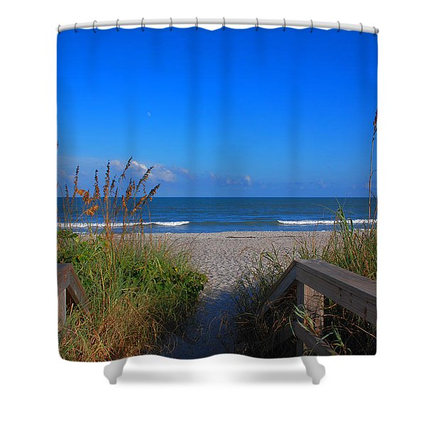 Lets Go To The Beach Shower Curtain