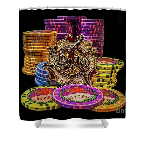 Lets Play Poker Shower Curtain