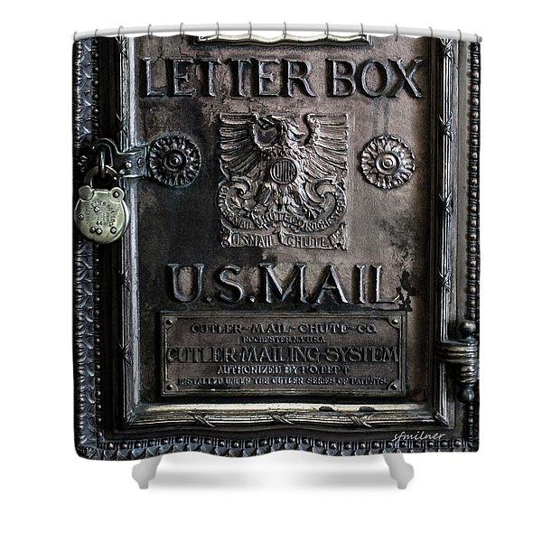 Letter Box Drop Shower Curtain