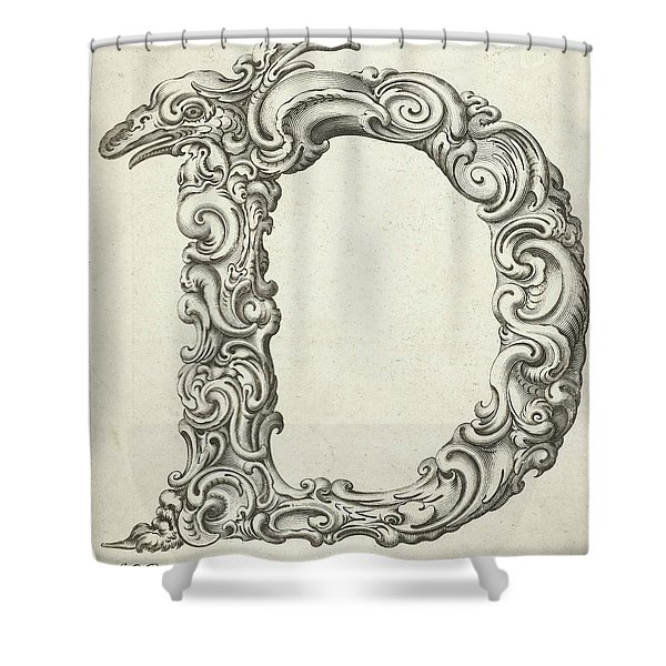 Letter D Shower Curtain