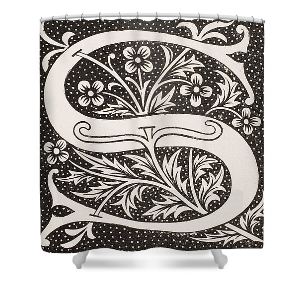 Letter S Shower Curtain