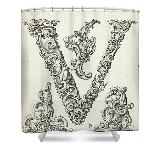 Letter V Shower Curtain
