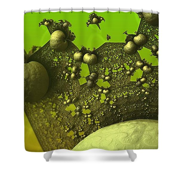 Lettuce Have Escargot Shower Curtain