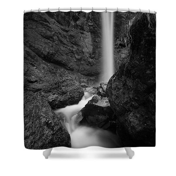 Leuenfall In Black And White Shower Curtain