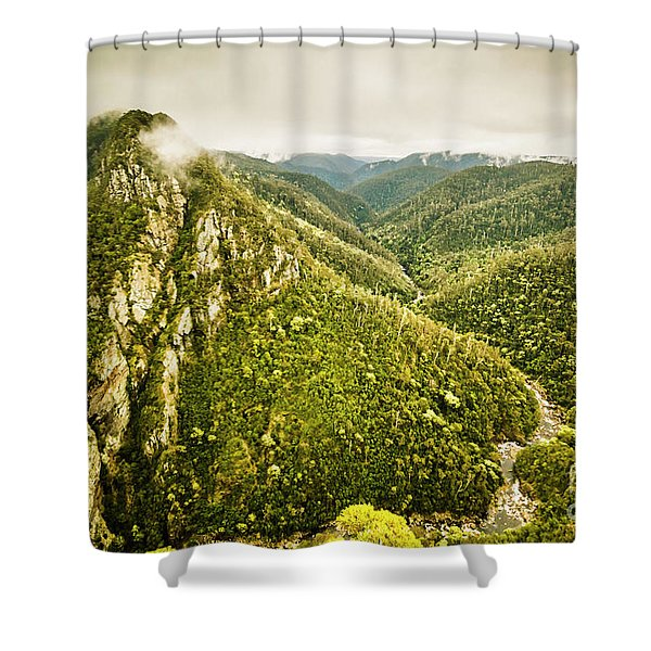 Leven Canyon Reserve Tasmania Shower Curtain