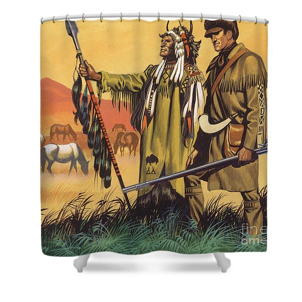 Lewis And Clark Expedition Scene Shower Curtain