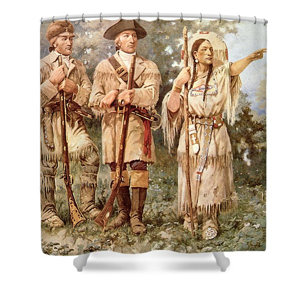 Lewis And Clark With Sacagawea Shower Curtain