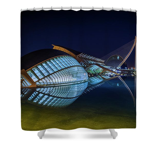 L'hemisferic In Valencia Shower Curtain