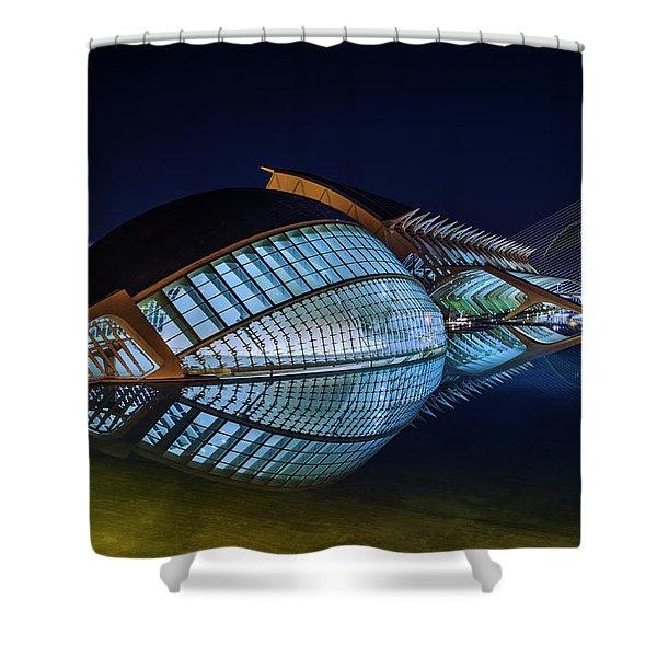 L'hemisferic Shower Curtain