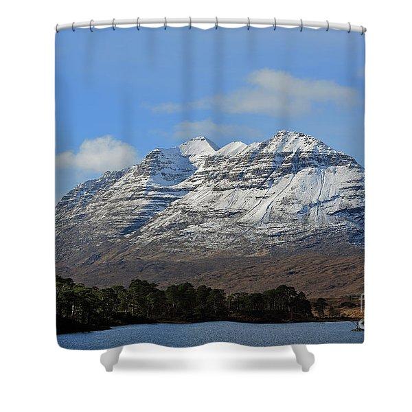 Liatach And Loch Clair Shower Curtain
