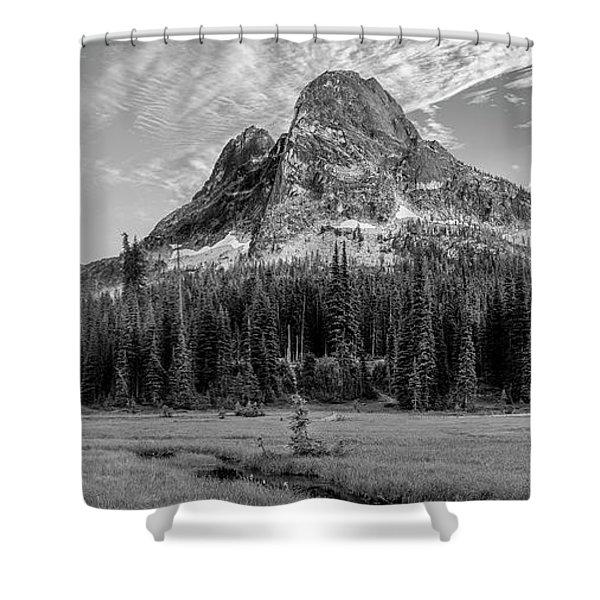 Liberty Mountain At Sunset Shower Curtain