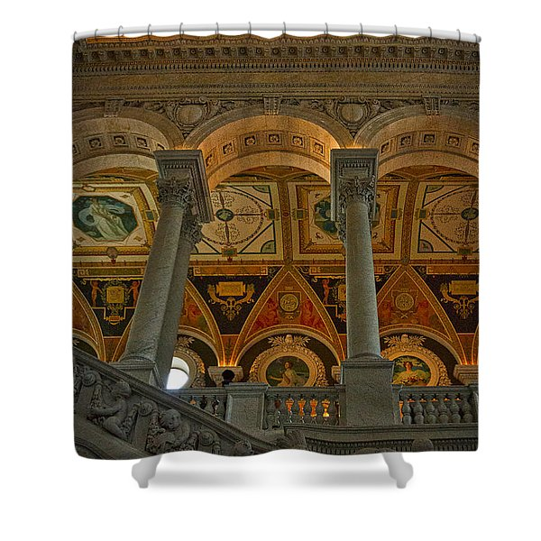 Library Of Congress Staircase Shower Curtain