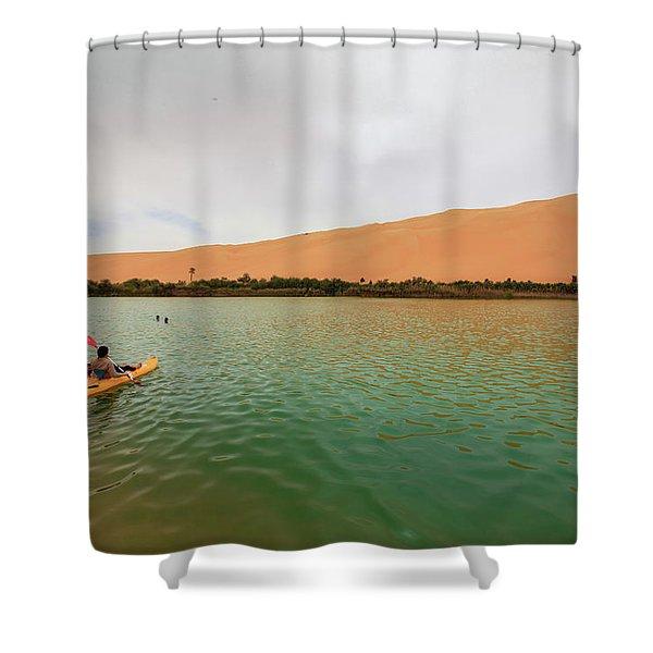 Libyan Oasis Shower Curtain