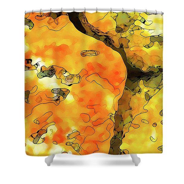 Lichen Abstract Shower Curtain