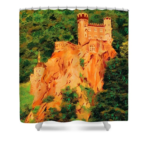 Lichtenstein Castle Shower Curtain