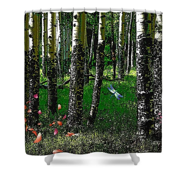 Life Among The Aspens Shower Curtain