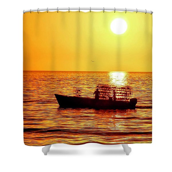 Life At Sea Shower Curtain