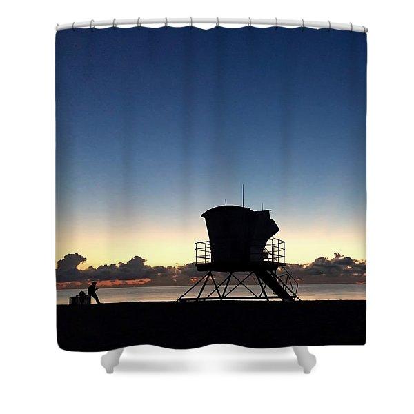 Life Guard Shack Shower Curtain