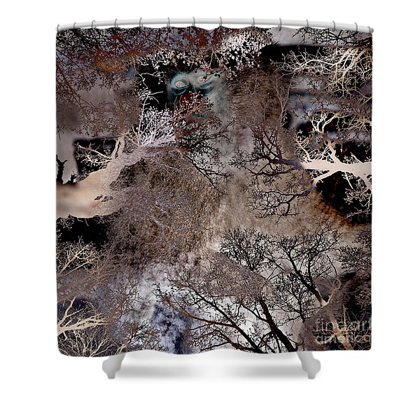 Shower Curtain featuring the digital art Life In A Bush Of Ghosts by Silva Wischeropp