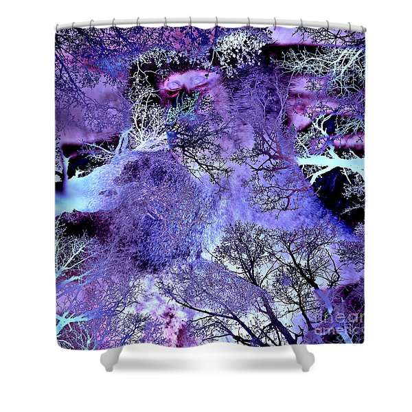 Life In The Ultra Violet Bush Of Ghosts  Shower Curtain