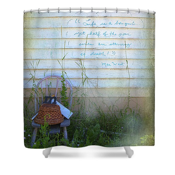Life Is A Bouquet Shower Curtain