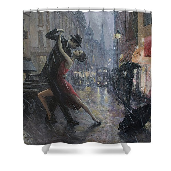 Life Is A Dance In The Rain Shower Curtain
