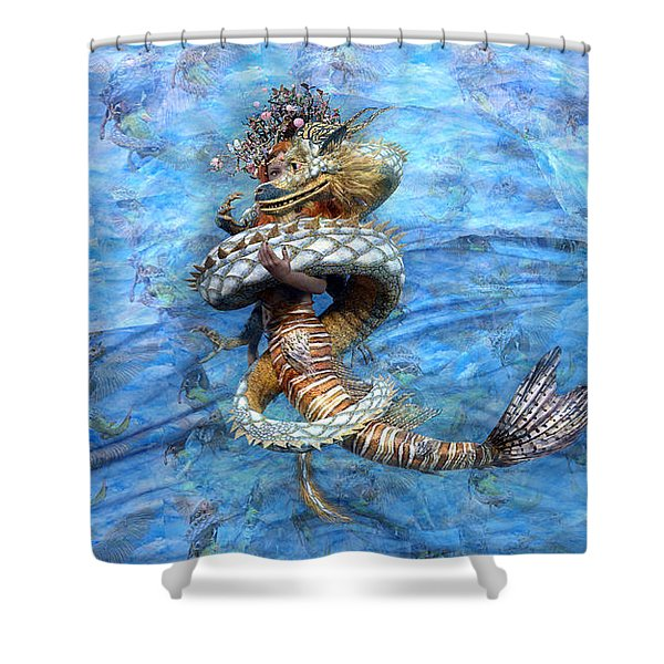 The Princess And The Dragon Shower Curtain
