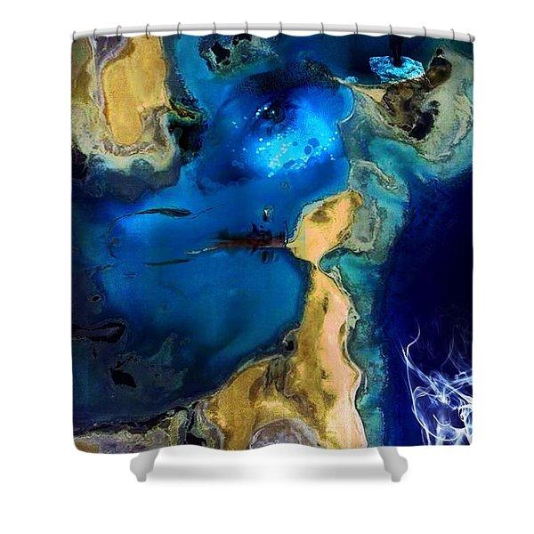Life Stream Shower Curtain