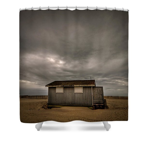Lifeguard Shack Shower Curtain