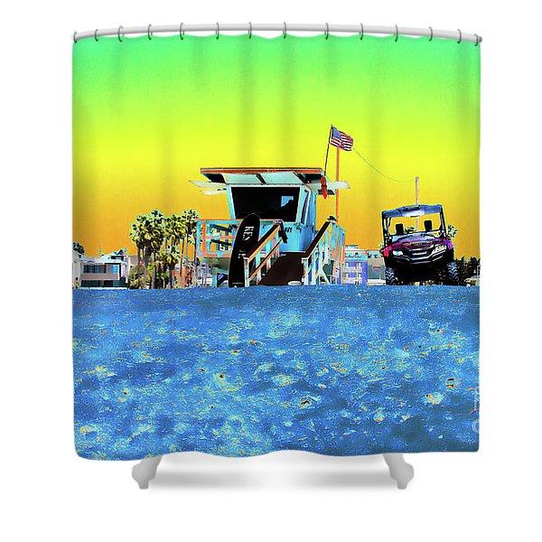 Lifeguard Tower 1 Shower Curtain