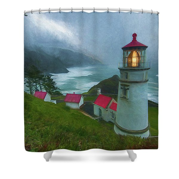 Lifting Fog Shower Curtain