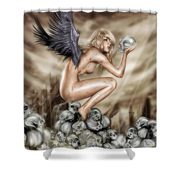 Lifting The Veil Shower Curtain