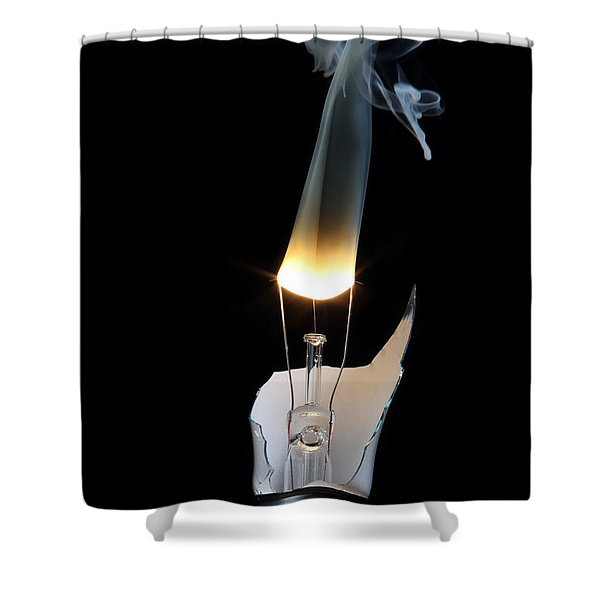Light And Smoke Shower Curtain