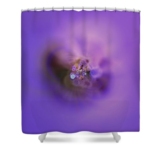 Shower Curtain featuring the digital art Light And Sound Abstract by Robert Thalmeier
