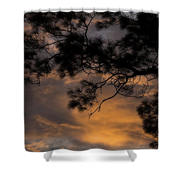 Light At The End Of The Day Shower Curtain