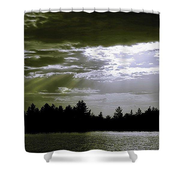 Light Blast In Evening Shower Curtain