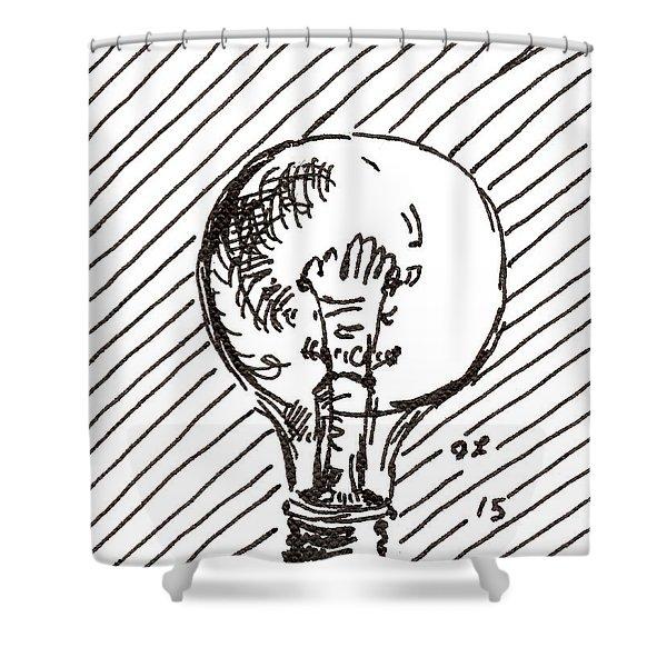 Light Bulb 1 2015 - Aceo Shower Curtain