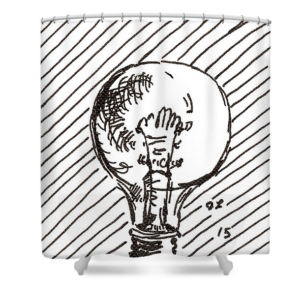 Light Bulb 1 2015 - Aceo Shower Curtain